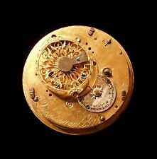 Quartier au Locle Swiss Verge Fusee Pocket Watch Movement from 1810
