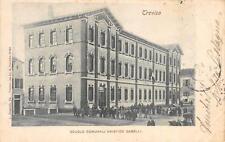9721) TREVISO, SCUOLE COMUNALI ARISTIDE GABELLI, FOLLA DI BAMBINI VIAGGIATA 1900