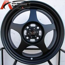 16X7 ROTA SLIPSTREAM RIMS 5X100 FLAT BLACK WHEEL FITS 5 CELICA COROLLA NEON WRX