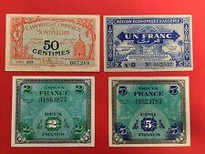 1 FRANC ALGERIE 1944 / 5 et 2 FRANCS FRANCE 1944 / 50 CTES MONTPELLIER 1921 -