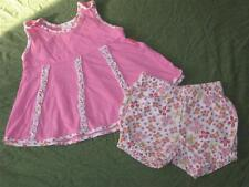 Oilily Girl 68 CM 9 MO Outfit Pink Floral Swing Top Dress Bloomers Set Baby Euro