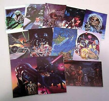 Set of 12 Star Wars Poster Art Postcards-Amazing Art!!