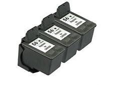 3PK HP 56 Ink Cartridge C6656AN Black for Deskjet 450 5150 5550 5650 5850 9650