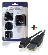 OLYMPUS TG-310 / TG-320 / XZ-1 DIGITAL CAMERA USB BATTERY CHARGER F-2AC / F-3AC