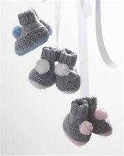 BABY/knitting pattern for easy knit booties 3/12 months dk wool