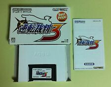 Gyakuten Saiban 3 Best Price ( Phoenix Attorney) GBA Gameboy Advance Japan USED