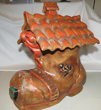Vintage Cookie Jar Old Woman Who Lived in a Shoe-  Mother Goose - Ceramic
