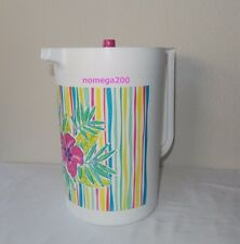 Tupperware New 2-Qt. Tropical Glamour Classic Pitcher