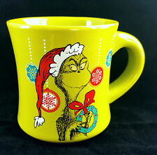 Dr.Seuss Don't Be A Grinch Ceramic Coffee Mug 12oz Lime Green Holiday Beverage