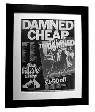 THE DAMNED+Machine Gun Etiquette+POSTER+AD+FRAMED+ORIGINAL 1979+FAST GLOBAL SHIP