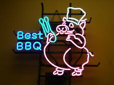 "New Best BBQ Beer Pub Bar Neon Sign 17""x14"" OT52S Ship from USA"