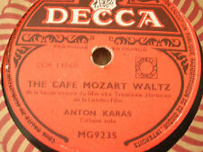 78 rpm-ANTON KARAS- Cithare- The cafe mozart waltz-  DECCA MG 9235