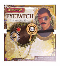 ADULT STEAMPUNK EYE PATCH FANCY DRESS PIRATE ACCESSORY