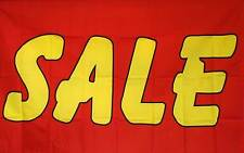 Sale Flag 3' X 5' Bold Red And Yellow  Indoor Outdoor Business Banner