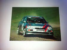 CP POSTCARD CARTOLINA FORD ESCORT LEXCELLENT RALLY RALLYE WRC 2005