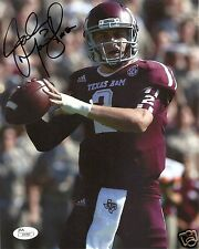 JOHNNY MANZIEL TEXAS A&M AGGIES SIGNED 8X10 PHOTO W/JSA COA #1