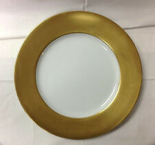 "FABERGE MATTE GOLD RIM CHARGER / SERVICE PLATE 12"" PORCELAIN MADE IN JAPAN"