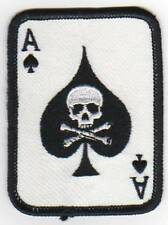 AS OF SPADES ARMY AIRSOFT INSIGNIA MILITARY IRON ON GLUE PATCHES PATCH EMBROIDED