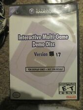 Interactive Multi-Game Demo Disc Version 17  (Nintendo GameCube, 2005) w/ Case