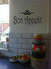 Bon Appetit Kitchen Sign Wall Sticker Wall Art Vinyl Decals Kitchen Decor