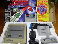 CONSOLE SUPER NINTENDO + SUPER GAME BOY + GIOCO SUPER MARIO WORLD PAL GIG AFFARE