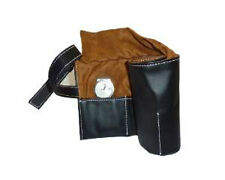 6 WATCH BLACK LEATHER TRAVEL POUCH ROLL STORAGE ORGANIZER CASE MENS GIFT