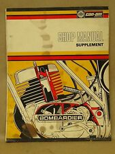 Vtg 1975-76 Can Am Bombardier Motorcycle Service Shop Repair Manual Supplement