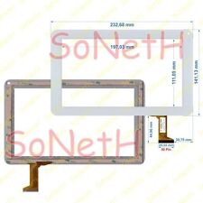 """Vetro Touch screen Digitizer 9,0"""" Actions P706 Bianco"""