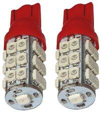 2x ampoule T10 W5W 12V 25LED SMD rouge éclairage intérieur plaque coffre seuils