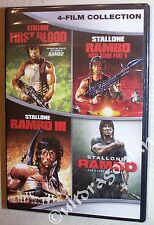 RAMBO 4-Film Collection DVD Set - 1, 2, 3 & 4 First Blood 1-4 Stallone BRAND NEW