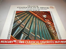Franck Symphony in D Minor Paul Paray Detroit Orchestra LP NM Wing MGW14002