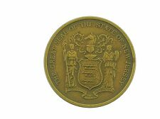 THE GREAT SEAL OF THE STATE OF NEW JERSEY BRONZE MEDAL - MEDALLIC ART CO. NoRSRV