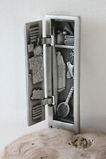 Vintage Pewter Locker Brooch Pin Opens Closes High School Signed AJC Student A3J