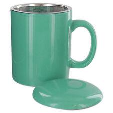 Teaz Cafe Infuser Mug with Lid - 11oz - Teal