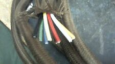 priced per ft RARE 8-wire cloth 20 ga STRANDED tinned, in CLOTH covered cable