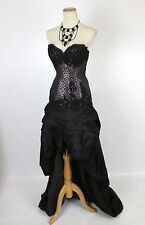 New Authentic Jovani 1363 Black / Purple Evening Party Pageant Women Gown 4