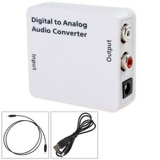 Digital Optical Coaxial Toslink Signal to Analog Audio Converter Box RCA L/R