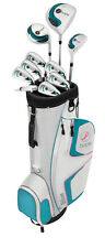 NEW! WILSON HOPE Womens Ladies Right Handed Complete Golf Club Set w/ Cart Bag