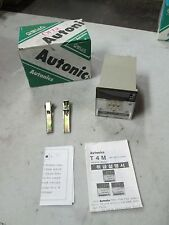Autonics Temperature Controller Mod: T4MA-B3RJ4C Sensor: J(IC) Out: Relay (NIB)
