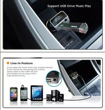 AUX In FM Transmitter USB Car Cigar Charger for iPhone 6S 5S iPod MP3 Player US