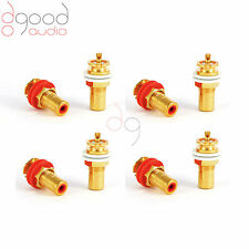 8 CMC USA Gold Plated Copper RCA Phono Chassis Sockets Solder Terminal Connector