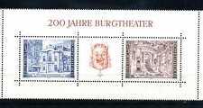 Österreich 1976 Block 3 ** postfrisch 200 Jahre Burgtheater in Wien BR145
