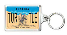 FLORIDA LICENSE PLATE HELPING SEA TURTLE SURVIVE KEYRING LLAVERO