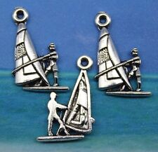 Set of 6 New FUN AT THE BEACH Charms Tibet Silver Zinc Alloy ONE EACH pictured