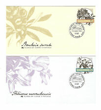 Set of 4 FDCs. Flora from Cook's Voyage. 2 different cancels 1986.   see scans.