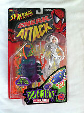 Marvel Comics Spider-man Sneak Attack toy biz Bug Buster silver beetle figure