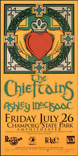 Chieftains Poster w Ashley MacIsaac Original Signed Silkscreen by Gary Houston