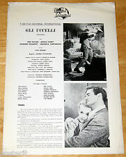 brochure originale GLI UCCELLI -THE BIRDS Hitchcock Tippi Hedren Rod Taylor 1963