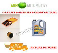 PETROL OIL AIR FILTER + LL 5W30 OIL FOR SKODA ROOMSTER SCOUT 1.6 105BHP 2006-10