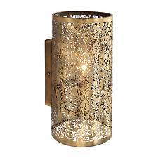 Endon Secret garden 1lt wall light 40W Antique brass effect plate
